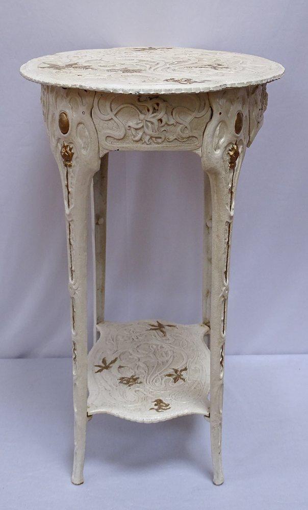 G1081 Heavy Art Nouveau Bistro Table Side Table Garden