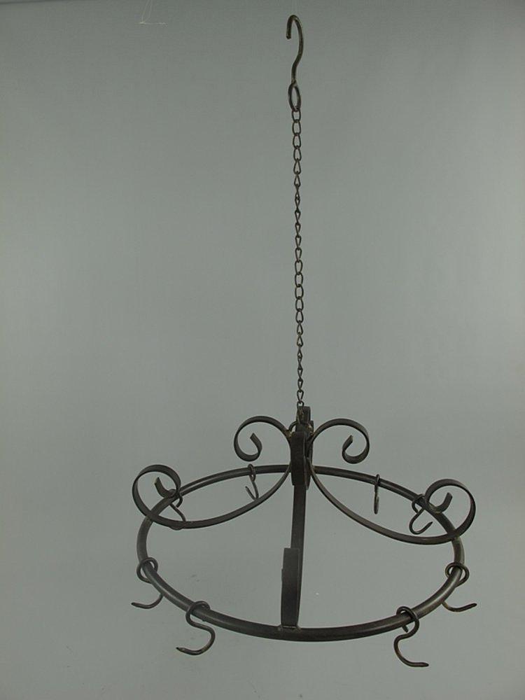 g1091 gro e runde k chenkrone topfkrone wildkrone wildhaken im landhausstil ebay. Black Bedroom Furniture Sets. Home Design Ideas