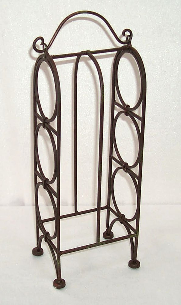 G1123 bottle stand for 3 bottles bottle rack wine rack wrought iron ebay - Wine racks wrought iron floor standing ...