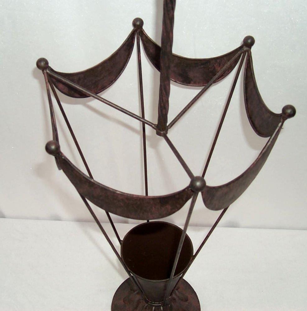 g1145 porte parapluie support pied pour parasol panier tamis fer forg ebay. Black Bedroom Furniture Sets. Home Design Ideas