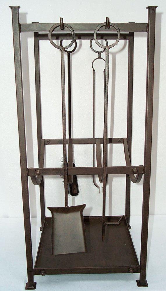 g1146 gro e kamin garnitur mit holzwanne kaminbesteck. Black Bedroom Furniture Sets. Home Design Ideas