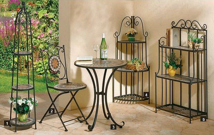 g2034 mosaik eckregal metallregal romanto im. Black Bedroom Furniture Sets. Home Design Ideas