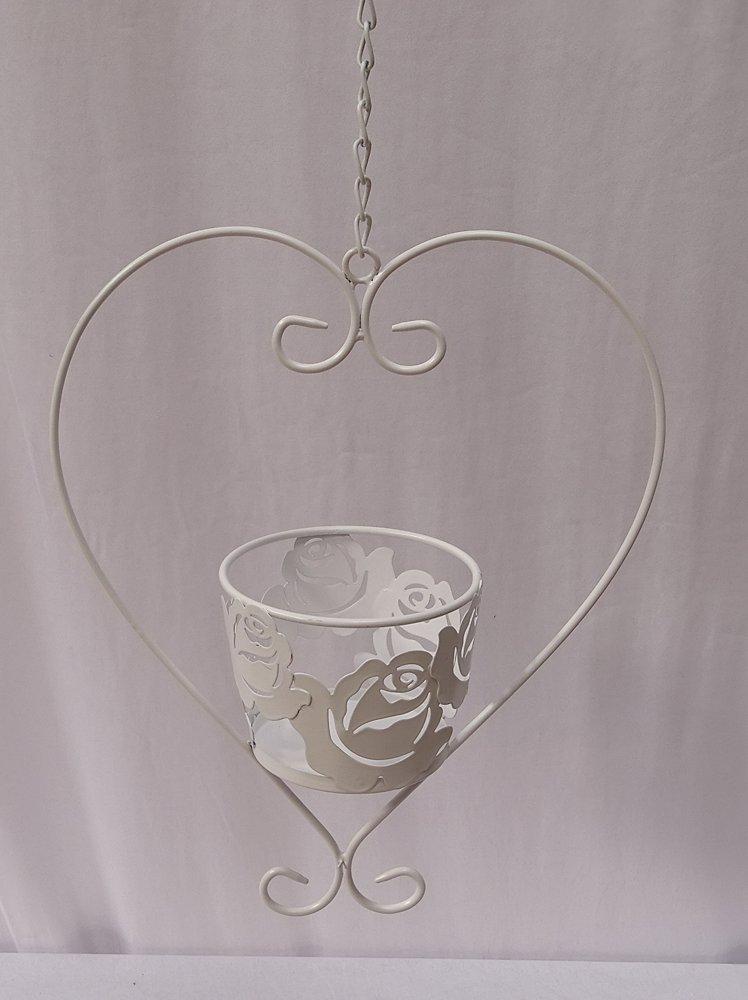 G2111 blumenampel rose pflanzen h nge ampel in herzform for Spiegel unter ampel