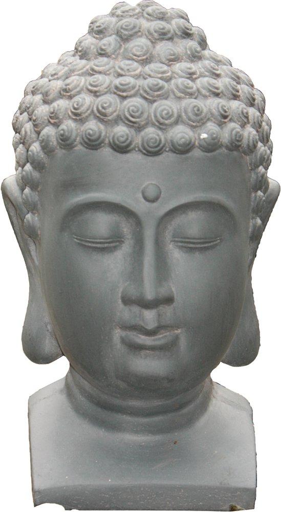 g2129 gro er buddha kopf garten b ste gartenfigur f r asiatische g rten ebay. Black Bedroom Furniture Sets. Home Design Ideas