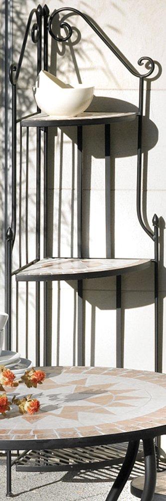 g2344 eckregal florenza mosaik m bel im mediterrane stil eck regal eisen ebay. Black Bedroom Furniture Sets. Home Design Ideas