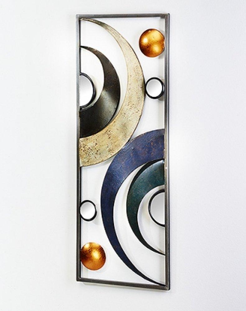 G2749 moderne tableau mural avec demi cercles en m tal for Demi abat jour mural