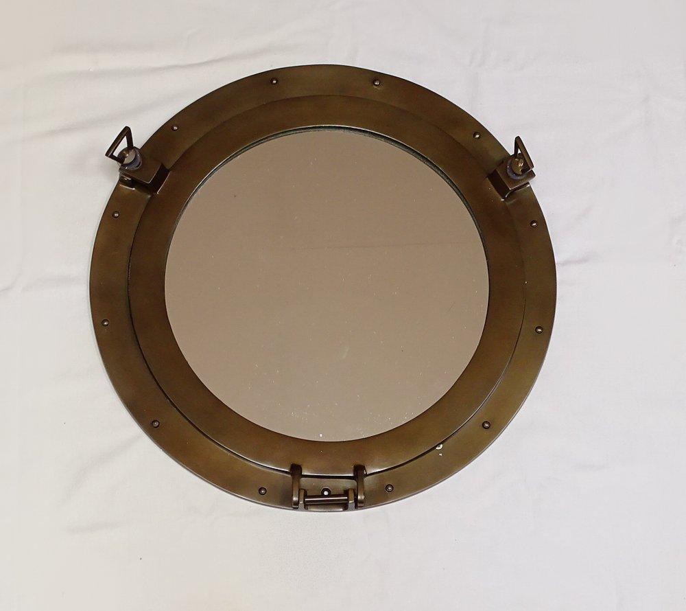 g466 bullauge kabinen bullauge mit spiegel maritimer wandspiegel ebay. Black Bedroom Furniture Sets. Home Design Ideas