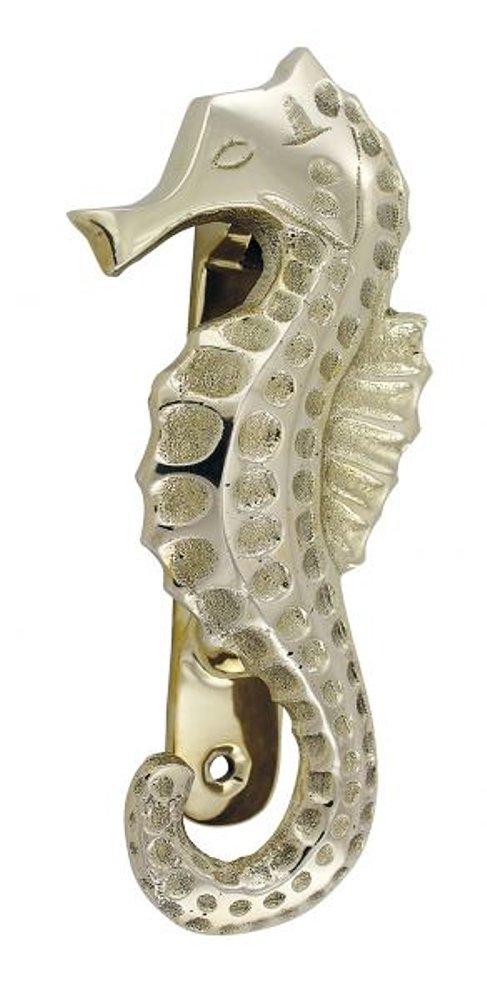 G4616 decorative door knocker seahorses cabins door knocker polished brass - Seahorse door knocker ...