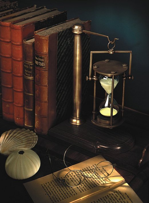 G526: Fine Maritime Bell clock,30 Minutes Hourglass Made From Bronze and